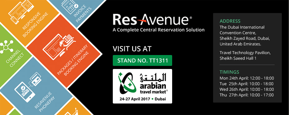 Visit the ResAvenue Stand No. TT1311 at the Arabian Travel Market - 2017